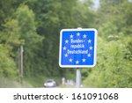 national border roadsign... | Shutterstock . vector #161091068