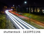 Night Photos Of The Highway At...