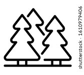 fir tree forest icon. outline...   Shutterstock .eps vector #1610979406