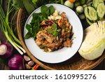 Thai Esan Food  Spicy Minced...