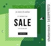 st. patrick's day sale banner... | Shutterstock .eps vector #1610997073