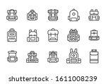 stroke line icons set of... | Shutterstock .eps vector #1611008239