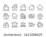 set of home related vector line ... | Shutterstock .eps vector #1611008629
