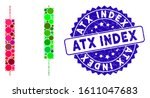 mosaic candlesticks icon and...   Shutterstock .eps vector #1611047683