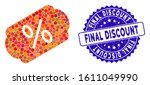 collage discount label icon and ... | Shutterstock .eps vector #1611049990
