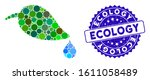 mosaic ecology icon and rubber... | Shutterstock .eps vector #1611058489