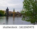 Vltava River Flowing Through...
