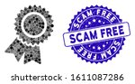 collage certification seal icon ... | Shutterstock .eps vector #1611087286