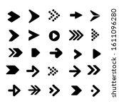 set of flat design pointer...