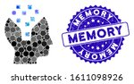 mosaic human memory icon and... | Shutterstock .eps vector #1611098926