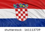 3d croatian flag | Shutterstock . vector #161113739