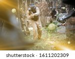Adult Paintball Players Of...