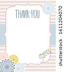 baby shower thank you layout... | Shutterstock .eps vector #1611204070