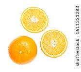 Whole Orange And Sliced Round...