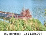 Old Fishing Boat On The Lake....