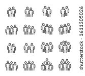 people icons   person work... | Shutterstock .eps vector #1611305026
