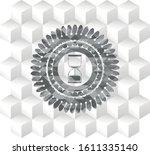 Sand Clock Icon Inside Grey...
