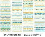 borders  dividers  calligraphic ... | Shutterstock .eps vector #1611345949