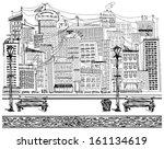 vector travel concept. sketch... | Shutterstock .eps vector #161134619