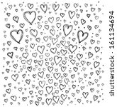 vector love concept. sketch... | Shutterstock .eps vector #161134694