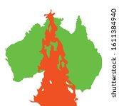 australia green silhoette.... | Shutterstock .eps vector #1611384940
