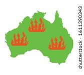 australia green silhoette.... | Shutterstock .eps vector #1611390343
