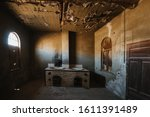 Abandoned Old Kitchen In Ruined ...