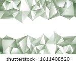 3d polygonal abstract... | Shutterstock . vector #1611408520