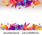 3d polygonal abstract... | Shutterstock . vector #1611408523