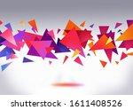 3d polygonal abstract... | Shutterstock . vector #1611408526