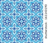 seamless background with blue... | Shutterstock . vector #161143190