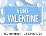 happy valentine s day... | Shutterstock .eps vector #1611464710