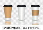 set of coffee cup   mockup... | Shutterstock .eps vector #1611496243