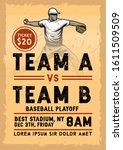 stock vector vintage baseball... | Shutterstock .eps vector #1611509509