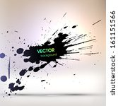 black paint stains  vector... | Shutterstock .eps vector #161151566
