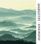 nature mountain vector sunrise... | Shutterstock .eps vector #1611558949