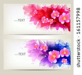 set of flowers element and... | Shutterstock .eps vector #161157998