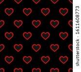 fancy heart shape seamless...   Shutterstock .eps vector #1611608773