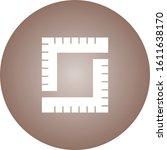 unique measurement vector glyph ... | Shutterstock .eps vector #1611638170