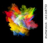 freeze motion of colored dust... | Shutterstock . vector #161168753