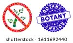 mosaic no botany icon and... | Shutterstock .eps vector #1611692440