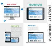 responsive web design  | Shutterstock .eps vector #161170064