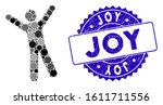 mosaic man joy icon and... | Shutterstock .eps vector #1611711556