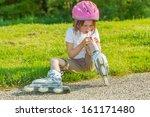 preschool roller skate beginner ... | Shutterstock . vector #161171480