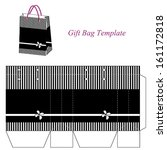 black gift bag template with... | Shutterstock .eps vector #161172818