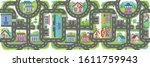 seamless pattern racing road....   Shutterstock .eps vector #1611759943
