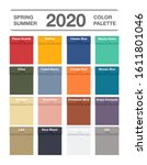 spring and summer 2020 pantone... | Shutterstock .eps vector #1611801046
