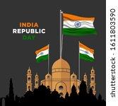 illustration of happy india... | Shutterstock .eps vector #1611803590