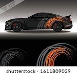 car wrap decal design vector ...   Shutterstock .eps vector #1611809029