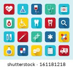 set medical 3d icons  flat ui...